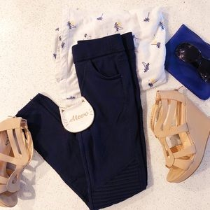 Navy blue Moto Jeggings